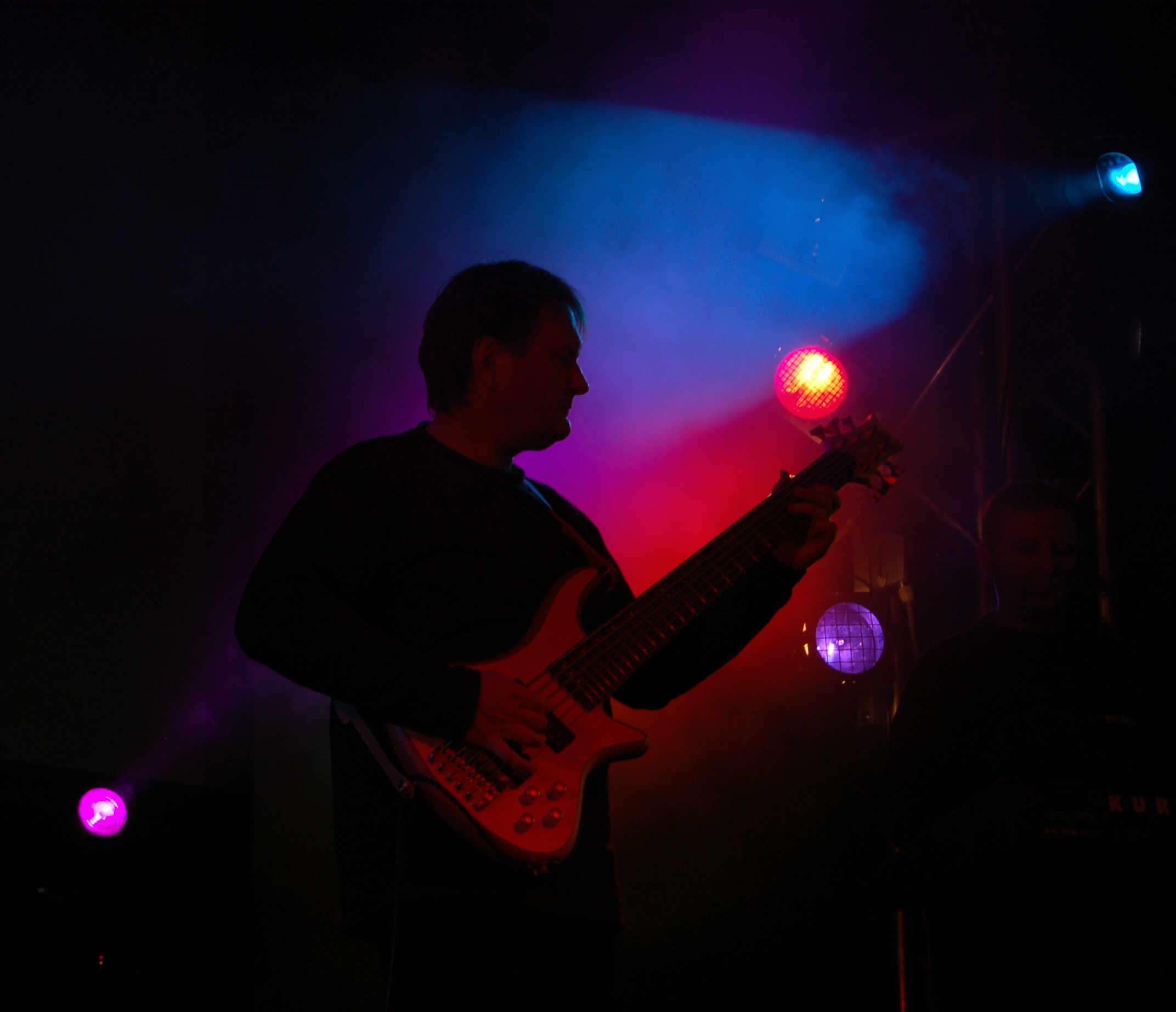 Sándor Pocsai on bass guitar